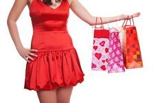 Free Shoppers Holding Bags Stock Images - 8714354