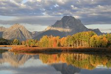Free Mt. Moran And Fall Sunrise Royalty Free Stock Images - 8714629