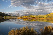 Free Early Morning At Oxbow Bend Stock Photography - 8714632