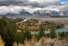 Free Clearing Storm At Snake River Overlook Royalty Free Stock Images - 8714769