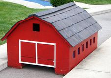 Miniature Golf Red Barn Royalty Free Stock Photography