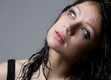Free Beautiful Wet Brunette Stock Photos - 8715573