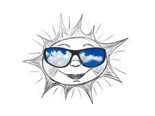 Free Drawing Sun And Sunglasses Stock Photo - 8715750
