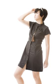 Free Female Asian Model In Fashion Clothes Royalty Free Stock Photo - 8716105