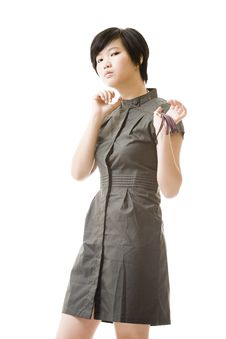 Free Female Asian Model In Fashion Clothes Royalty Free Stock Image - 8716156