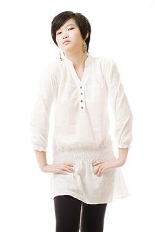 Free Female Asian Model On White Stock Photo - 8716260