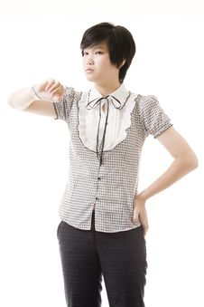 Free Female Asian Model On White Royalty Free Stock Photography - 8716267