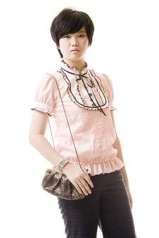 Free Female Asian Model On White Stock Images - 8716344