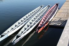 Free Canoes And Dock Stock Image - 8716731