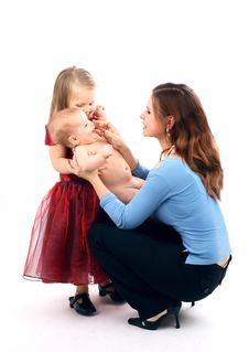 Free Mum With The Daughters Stock Images - 8716934