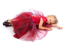 Free Girl In A Red Dress Royalty Free Stock Photo - 8716935