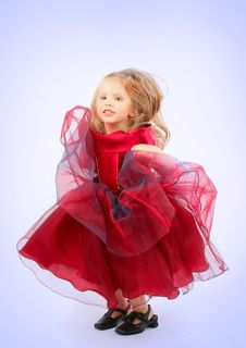 Free Girl In A Red Dress Stock Images - 8716944