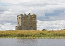 Ancient Castle In Scotland Stock Photography