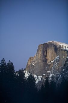 Half Dome At Twilight Royalty Free Stock Photo