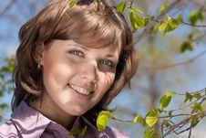 Free Spring Girl Stock Image - 8718611