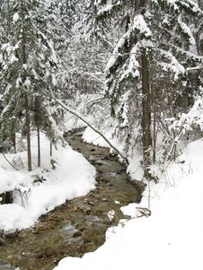 Winter Idyllic Royalty Free Stock Images