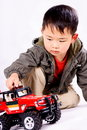 Free Boy And Remote Control Car Royalty Free Stock Photography - 8724747