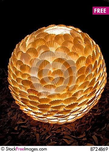 Free Lamp Shade From Sea Bowls. Royalty Free Stock Images - 8724869