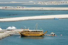 Free Dubai City - Dhow And Construction Stock Photography - 8720322