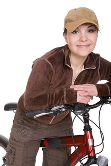 Free Woman On Bike Royalty Free Stock Photos - 8720438