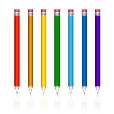 Varicoloured Pencils Royalty Free Stock Image