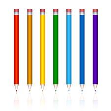 Free Varicoloured Pencils Royalty Free Stock Image - 8720616