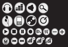 Audio Icons Stock Images