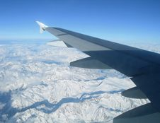 Free Flying Over The Alps Stock Photography - 8722362