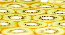 Kiwi Slices On White Closeup Royalty Free Stock Photos