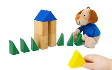 Free Small Child Play With Blocks Royalty Free Stock Images - 8723569