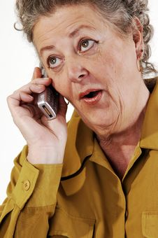 Free Senior Woman On The Cell Phone. Stock Image - 8724411