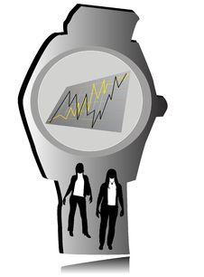 Free Watch With Statistics Stock Images - 8724444