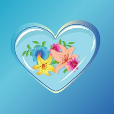 Free Heart With Flowers Royalty Free Stock Photos - 8724768
