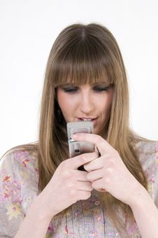 Free Female With Cellular Phone Royalty Free Stock Photo - 8724785