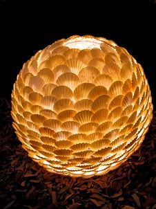 Free Lamp Shade From Sea Bowls. Royalty Free Stock Images - 8724869