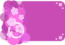 Stylish Pink Banner Stock Image
