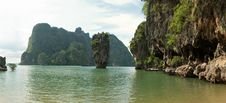 Free James Bond (Ko Tapu) Island Lagoon Panorama Royalty Free Stock Photo - 8725685