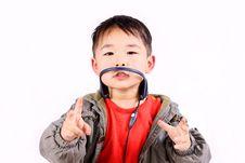 Free Boy With Earphone Stock Photography - 8725722
