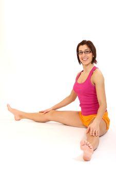 Free Yoga Woman Royalty Free Stock Photo - 8726075
