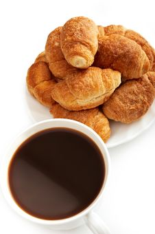 Free Coffee And Croissants Royalty Free Stock Images - 8726479
