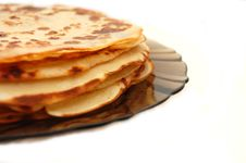 Plate With Russian Pancakes Stock Images