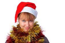 Free Woman Wearing A Santa Hat Stock Image - 8728591