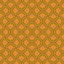 Free Circle And Flower Pattern Royalty Free Stock Photography - 8728917