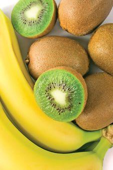 Kiwi And Banana Stock Photos