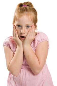 Free Little Girl Is Shocked Stock Photos - 8729723
