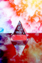 Free Transparent Pyramid Opposite Abstractions. Royalty Free Stock Images - 8733189