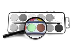 Free Magic Magnifying Lens And Paints Stock Photo - 8730560