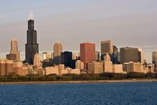 Free Morning Panorama Of Chicago Stock Images - 8731164