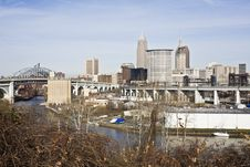 Free Downtown Cleveland Royalty Free Stock Photo - 8731245