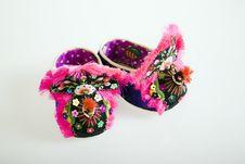 Handmade Cloth Shoes Royalty Free Stock Photos